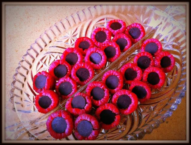 choclateraspberrybites